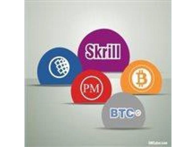 Cash out Skrill, Perfect money, Webmoney, Bitcoin in Pakistan.