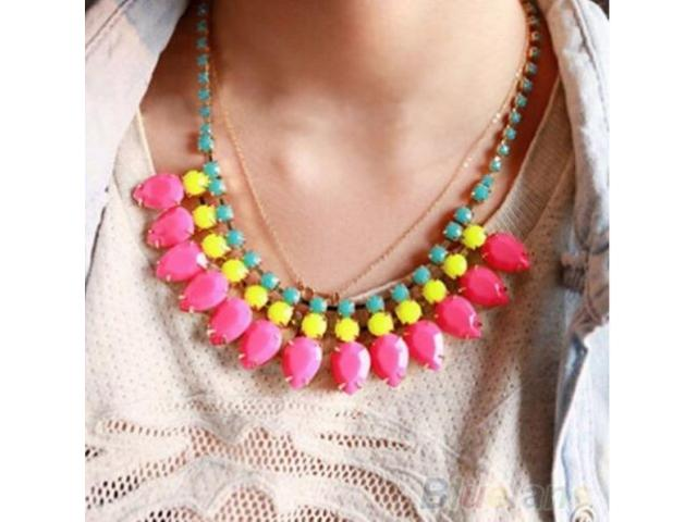Necklace With Colorful Pearls For Girls With Discount Home Delivery Available