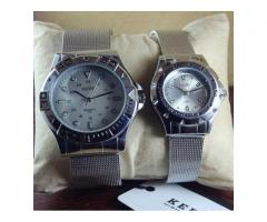 Couple Watches By Kede Quartz Stylish And Attractive Home Delivery Available