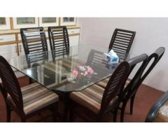 Dining Table 6 Chairs High Quality Wood Available For Sale In Islamabad