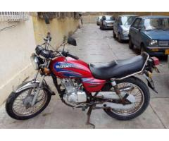 Suzuki GS-125 Red Color Model 2008 Powerful Engine For Sale In Karachi