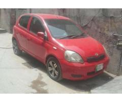 Toyota Vitz Model 2002 Red Color Mechanically Fit For Sale In Lahore