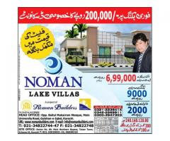 Noman Lake Villas Karachi Residential Plots And Houses On Easy Installments