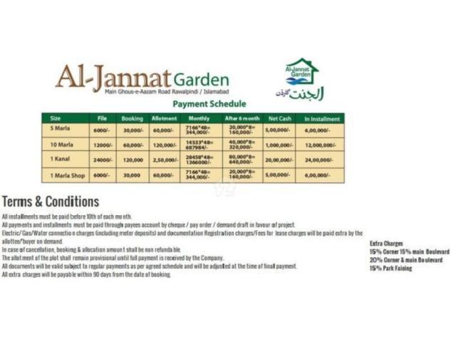 Al Jannat Garden Rawalpindi Residential Plots and Shops On