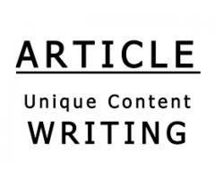 Article Writers Having Good Experience Required For My Project Rawalpindi