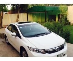 Honda Civic Oriel Prosmatic Model 2013 White Color For Sale In Faisalabad