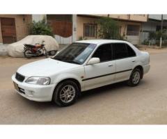 Honda City white Color Model 2002 Excellent Condition for Sale In Karachi