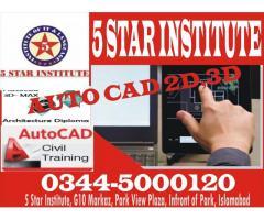 AUTO CAD 2D,3D Course with 5 STAR INSTITUTE G10 Markaz