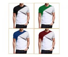 Pack Of 2 New Designer Half Sleeve T-Shirts