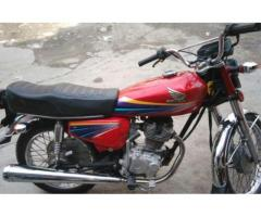 Honda 125 Red Color Powerful Engine Almost New Bike 2011 Sale In Lahore