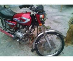 Honda 125 Red Color Model 2014 Almost New Available For Sale In Faisalabad