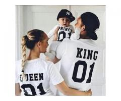 Family T-shirt Pack In White Color Original Fabric Used Home Delivery Available