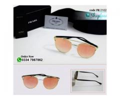 Prada Sunglasses Orange Color With Original Box With Home Delivery