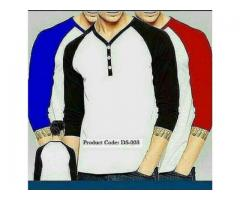 Pack Of 3 Y Neck T-shirts For Gents In Different Colors With Home Delivery
