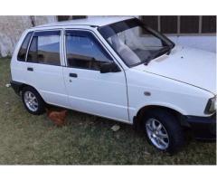 Suzuki Mehran Model 2011 White Color Genuine Body and Engine Sale In Rawalpindi