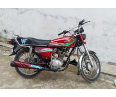 Honda 125 Red Color Single hand Used Excellent condition Model 2014 Lahore