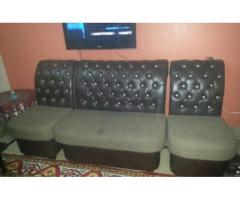 Leather Sofa 4 Seats Almost Looking New Very Comfortable For Sale in Karachi