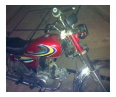 United Bike 70 cc Red Color Model 2015 New Bike For Sale In Faisalabad