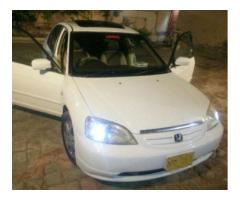 Honda Civic Sunroof White Color Model 2003 Available For Sale In Sukkar