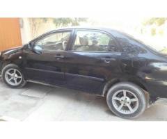 Toyota Corolla Black color Scratch less Condition Model 2007 Sale in Karachi