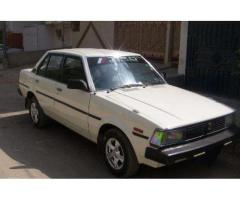 Toyota Corolla Model 1982 White Color Good Condition For Sale In Karachi