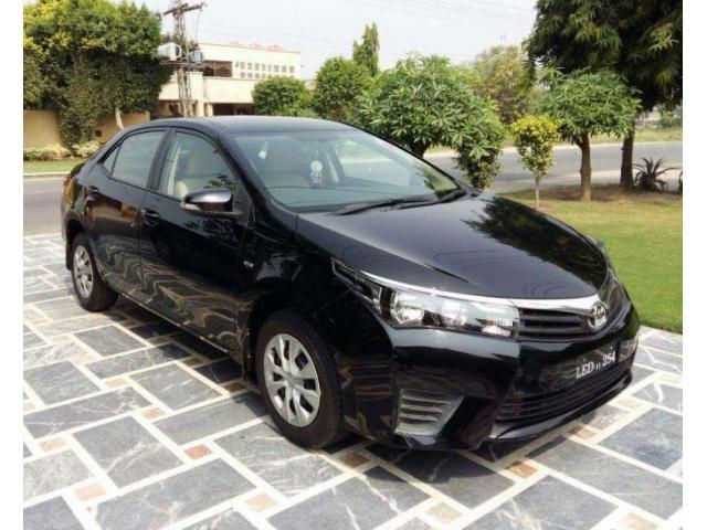 Toyota Corolla Gli Black Color Model 2015 Beautiful Luxury Car Sale