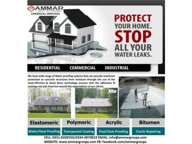 Waterproofing & Heat proofing Services Now Save Your Constructions -Karachi