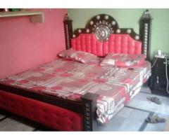 King Size Bed Pure Wood Used Almost New For Sale in Sialkot