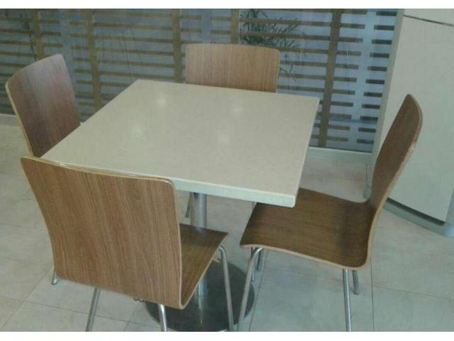 Furniture for fast food restaurant almost new