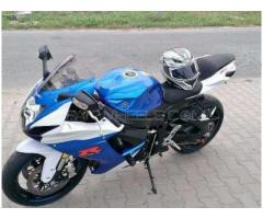Suzuki Heavy Bike Blue Color Excellent Condition Model 2013 Sale In Lahore
