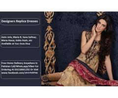 Designers Replica Dresses in Pakistan Call 03218001292