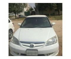 Honda Civic Model 2005 Exi White Color Family Used Car Sale In Islamabad