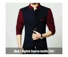 Men's Stylish Coat In Reasonable Price Delivery Available In All Pakistan