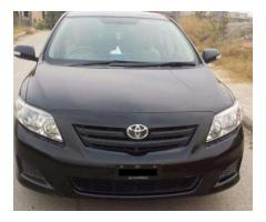 Toyota Corolla XLI Black Color Model 2010 New Tubeless Tyre Sale In Islamabad