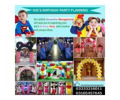 Kids birthday party Planning with Streamline Management Services