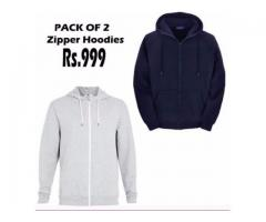 Pack Of Two Zipper Hodies In Attractive Color For Sale With Home Delivery