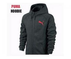 Puma Hoodies High Fabric Used Black Color For Gents Cash On Delivery