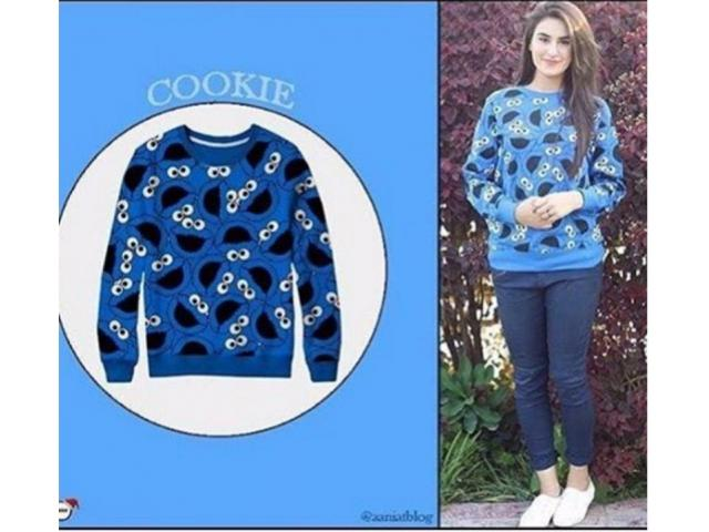 Winter Discount Offer For Girls Cookie Monster Sweatshirts Free Cash On Delivery