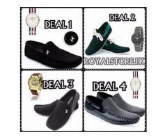 Spacial Offer For Gents Buy Shoes And Get Free Watch With Home Delivery