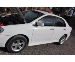Toyota Corolla Model 2002 White Color Automatic For Sale In Bannu