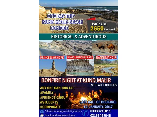 One Day trip to Bonfire at Kund Malir beach