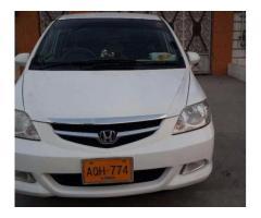 Honda City Model 2008 White Color New Tyre For Sale In Karachi