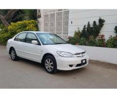 Honda Civic Exi White Color Model 2005 Genuine Condition Sale in Karachi