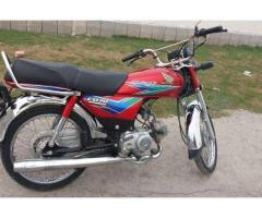 Honda Cd 70 Red Color 1st Owner No Accident For Sale In Lahore