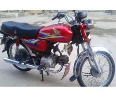 Honda Cd 70 Original Documents Red Color For Sale In Faisalabad
