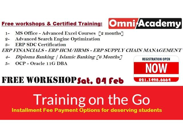 Free workshops & Certified Trainings Feb, 2017
