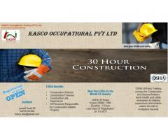 OSHA Occupational Health and safety certificate