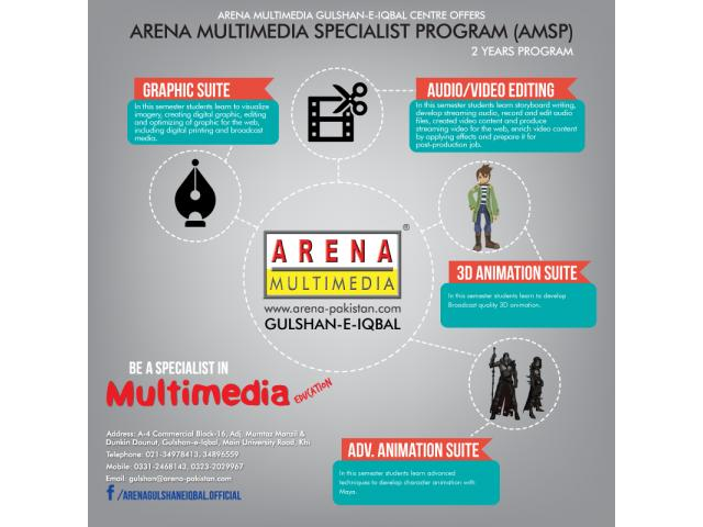 Graphic Designing Course with Arena Multimedia Gulshan-e-Iqbal