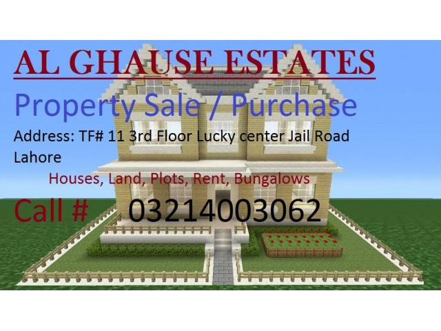Al Ghause Estates Sale/ Purchase/ Rent properties in Lahore