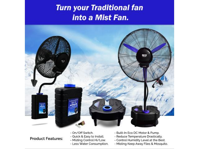 Cool water misting fan Pakistan